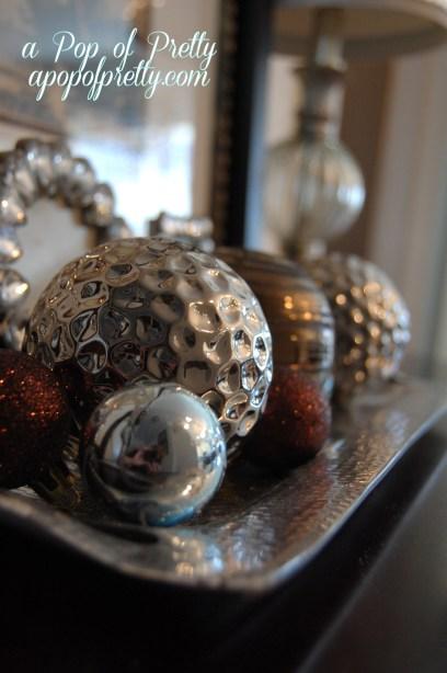 Christmas vignette foyer