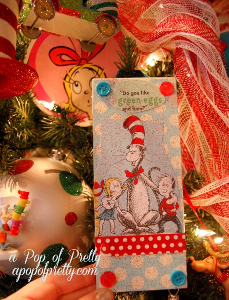 DIY Dr. Seuss Christmas Tree Ornaments