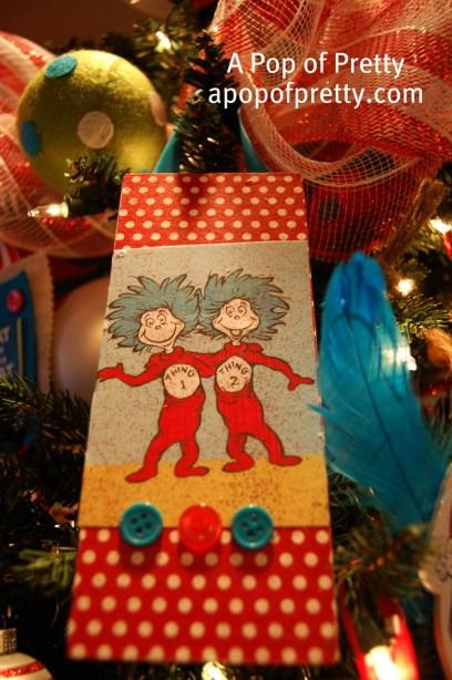 Thing 1 Thing 2 Dr. Seuss Christmas Ornament