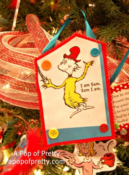 Green Eggs and Ham Christmas Tree Decoration