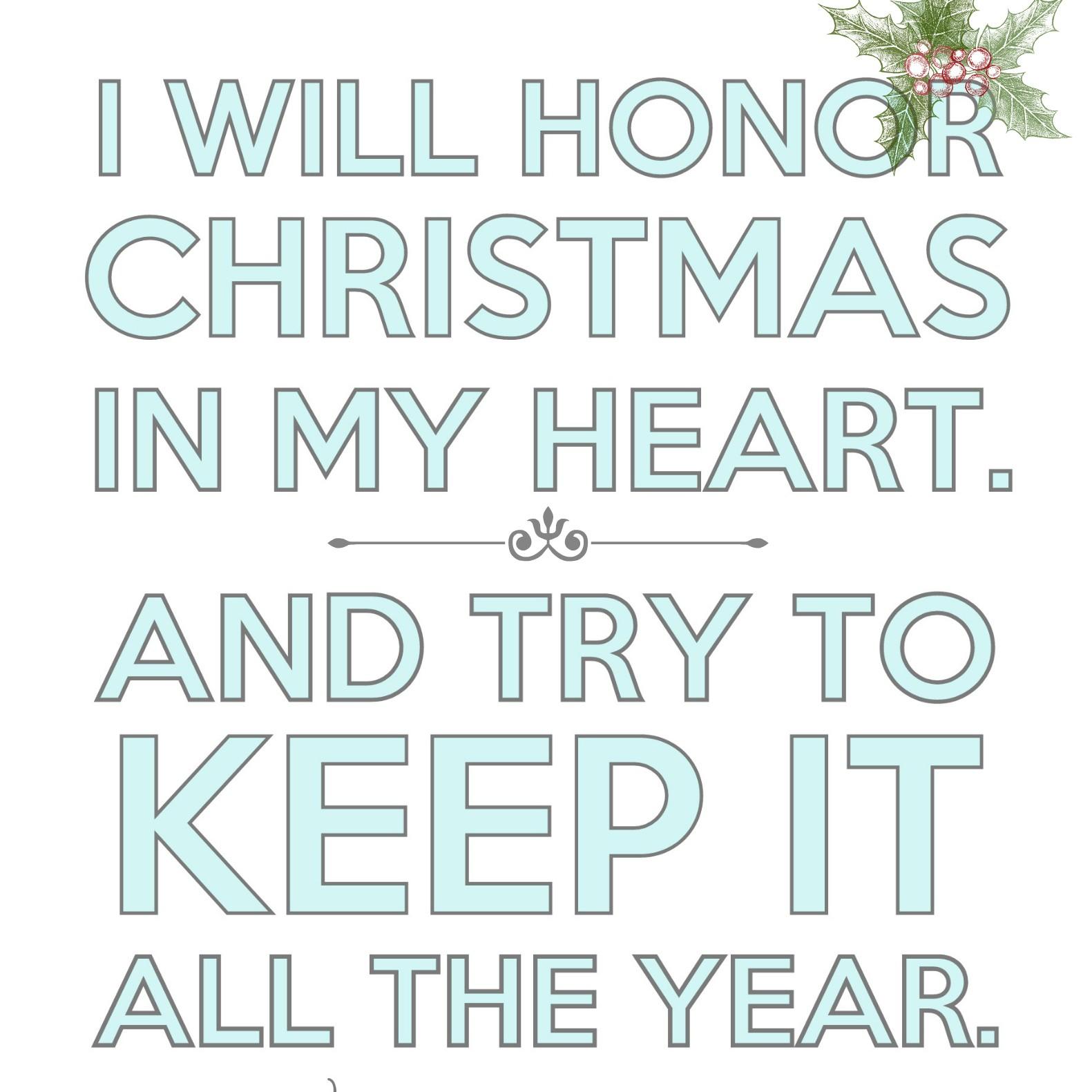 Free Christmas Printable: \