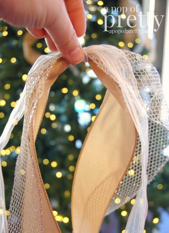 How to Put Ribbon on a Christmas Tree - A Pop of Pretty ...