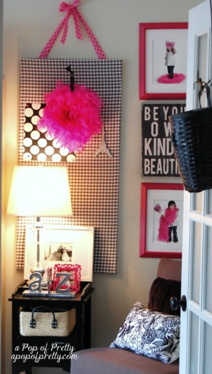 decorating with color - pink craft room