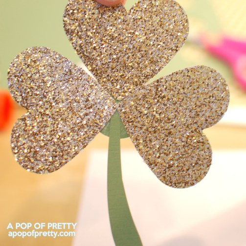 gold shamrock for St Patricks Day