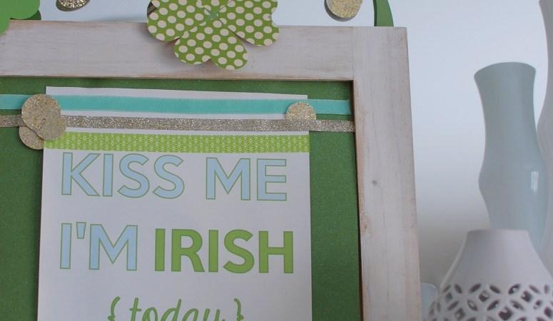 St Patricks Day Mantel Decor {DIY Paper Shamrock Garland}