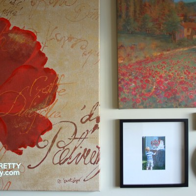 How to Tame an Art Wall {Gallery Frames}