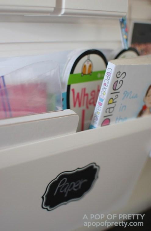Martha Stewart art station - inbox for craft paper