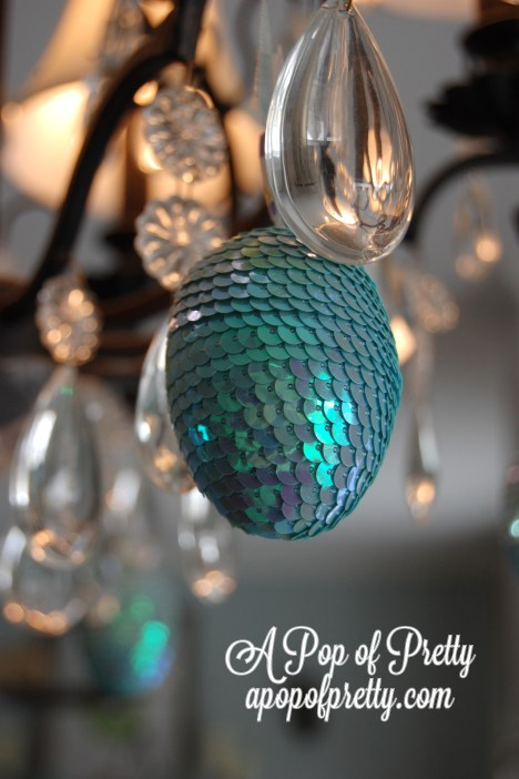 sequined Easter eggs