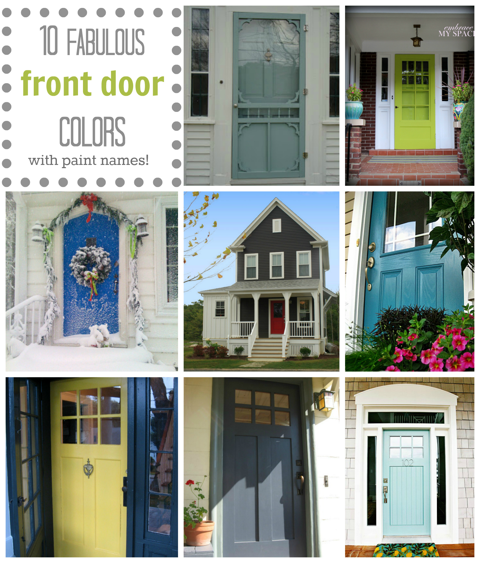 Meaning Of Shut The Front Door: Front Door Color: 10 Fabulous Front Door Colors (& Their