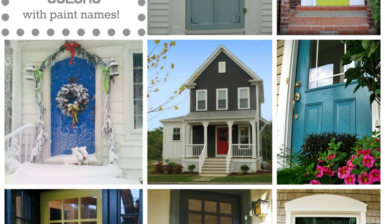 Front Door Color: 10 Fabulous Front Door Colors (& their paint names!)