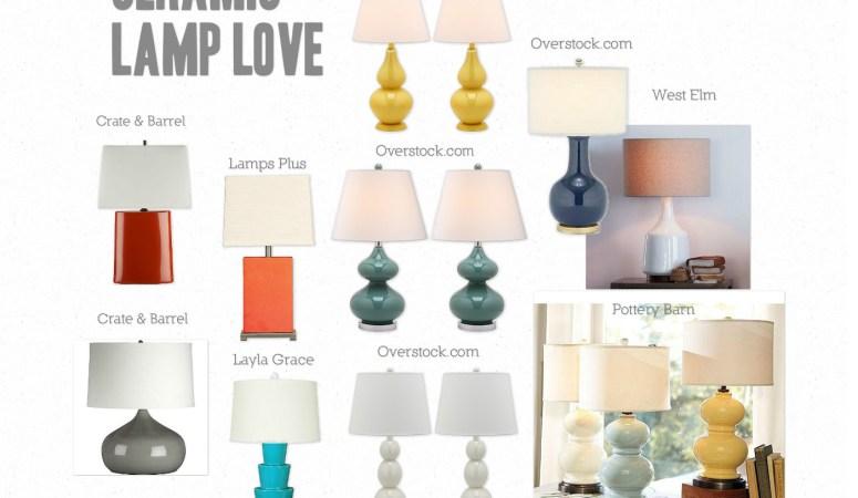 Ceramic Table Lamps: My Decor Crush de Jour