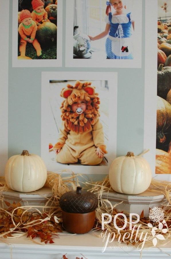 decorate a Fall mantel