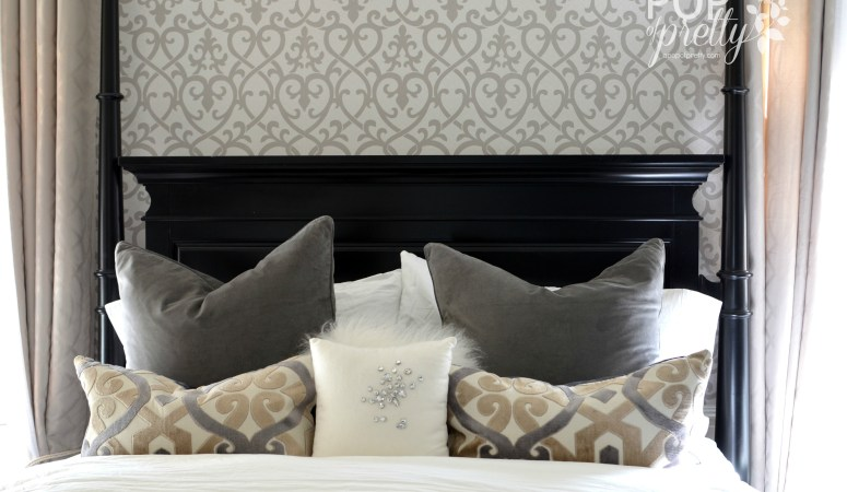 Wallpaper Accent Wall in the Bedroom: Reveal