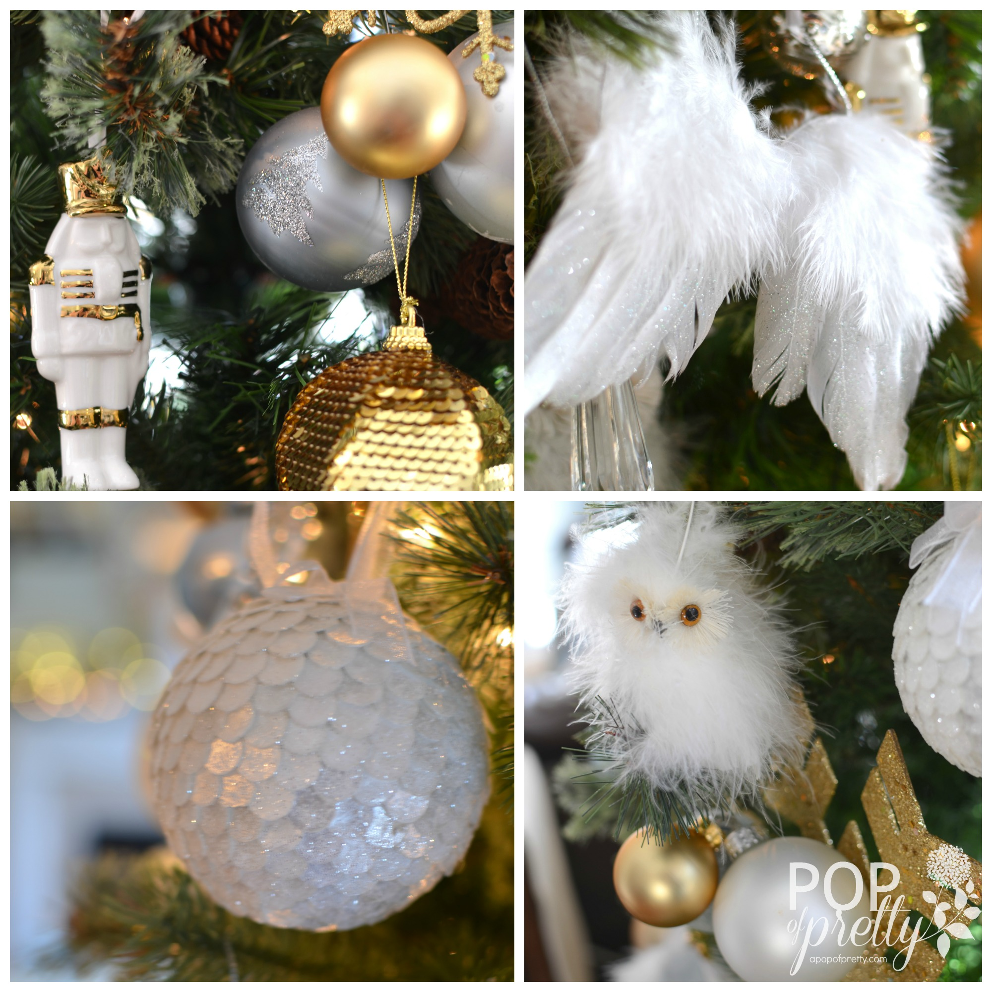 Our Gold and White Christmas Tree {Christmas Tree Decorating Ideas ...