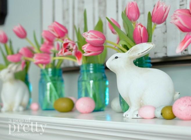 Easter decorating - mason jars