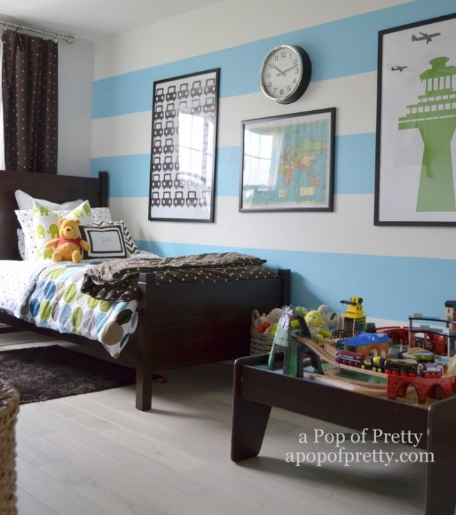 Canadian Bloggers Home Tour - a pop of pretty - twin boys room4