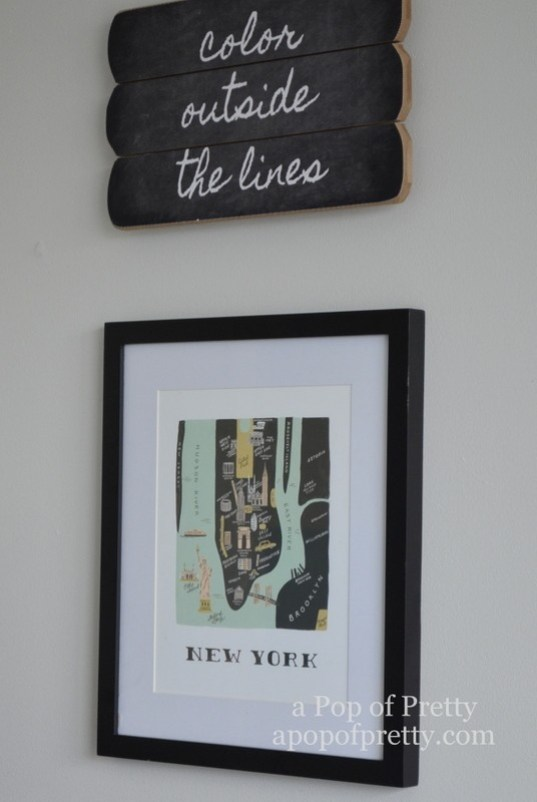 boys bedroom new york print
