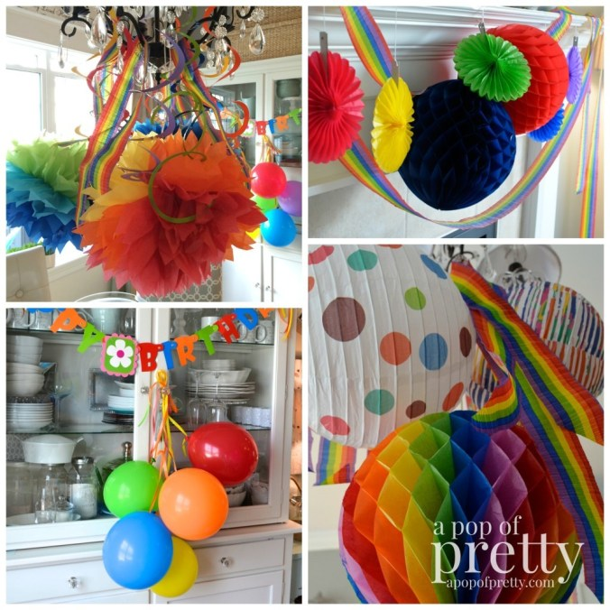 art theme birthday ideas - decorations
