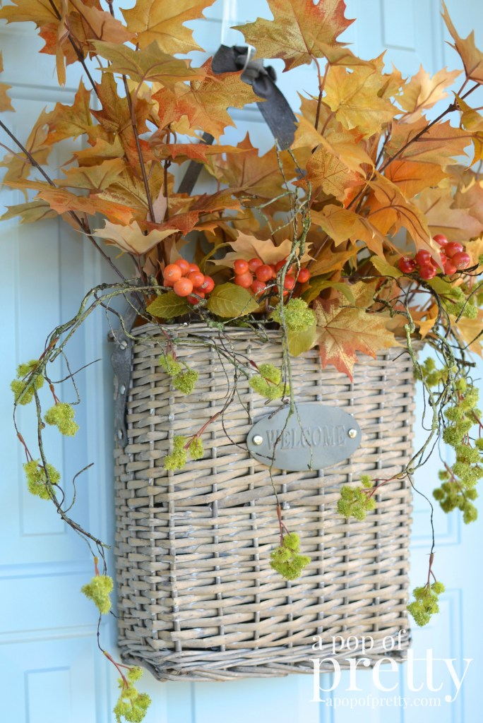 Fall decor front door