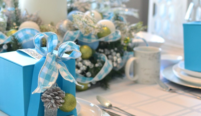Canadian Tire Canvas Launch: Frosty Blue Holiday Tablescape