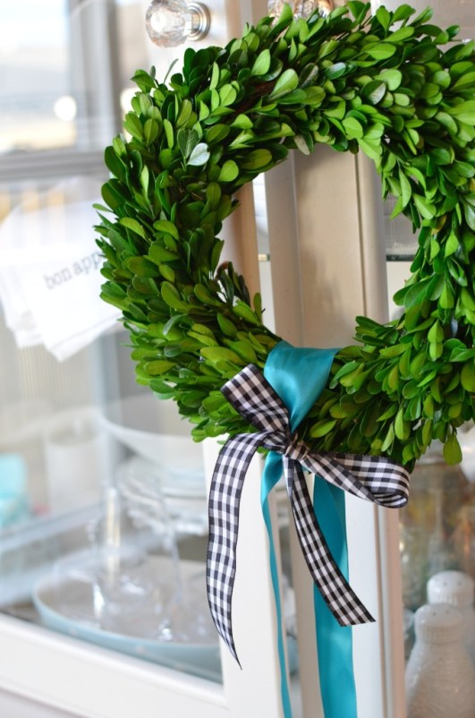French inspired Christmas Boxwood wreath