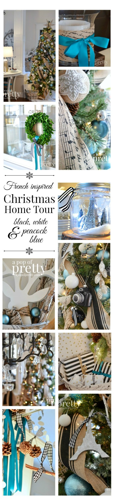 French Inspired Christmas Home Tour Pinnable Collage