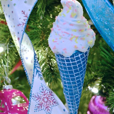 Sweet Tooth Theme Christmas Tree (Bright pink, blue, green)