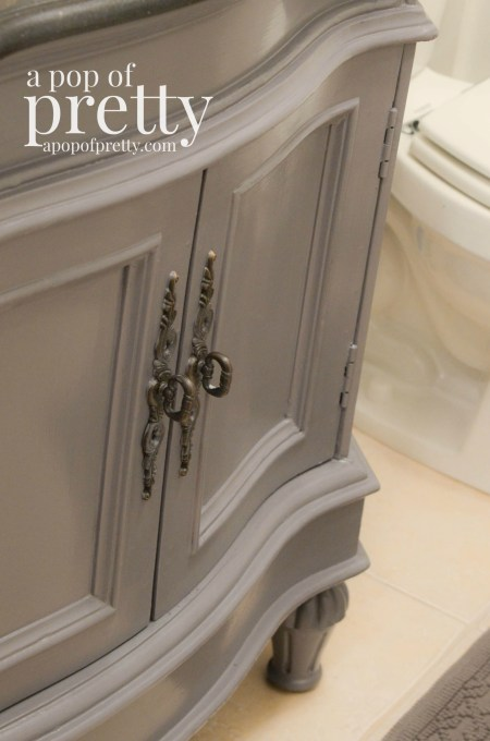 Bathroom vanity makeover behr marquee