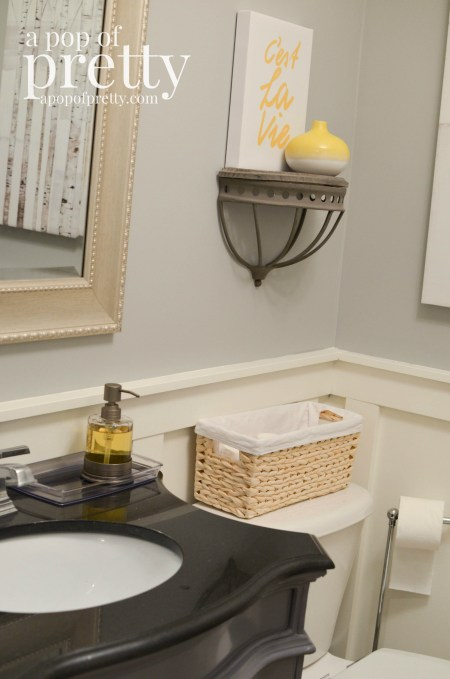 bathroom vanity makeover paint