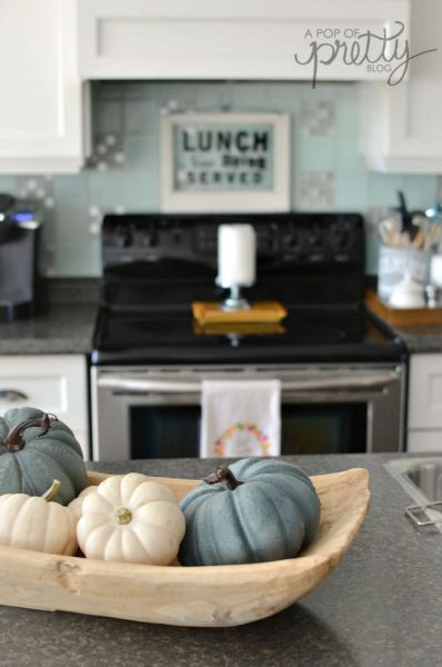 Canadian Bloggers Home Tours - Fall Decorating Ideas Kitchen