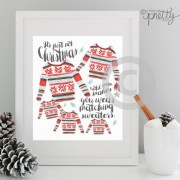 Ugly Sweaters 2015 Christmas Printable
