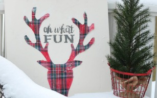 DIY Plaid Deer Head Sign (and a Behr Paint Giveaway!)