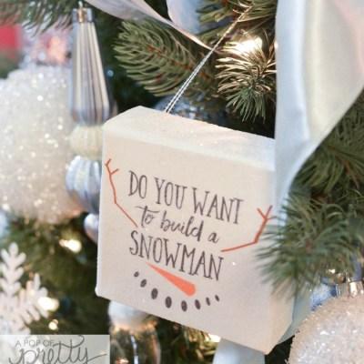DIY Disney Frozen Christmas Tree