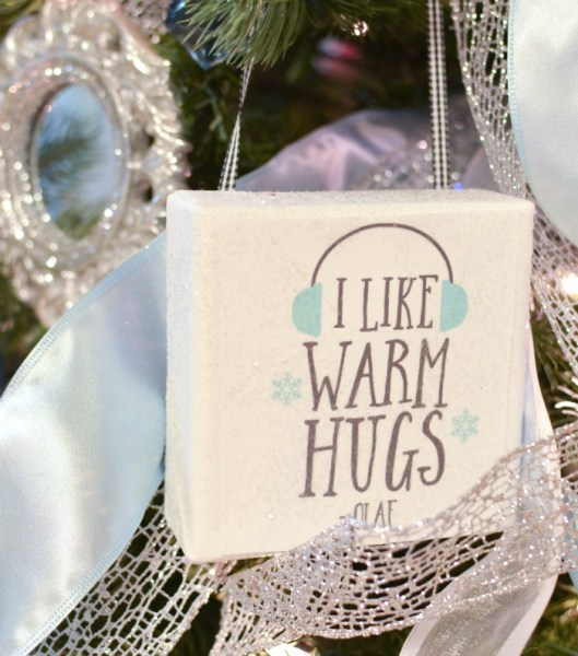 Disney Frozen Christmas Tree I like warm hugs
