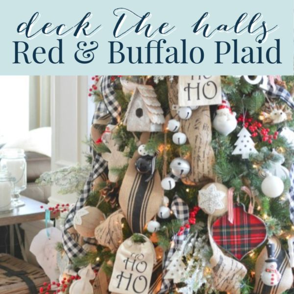 Red Plaid Christmas Decor Home Tour