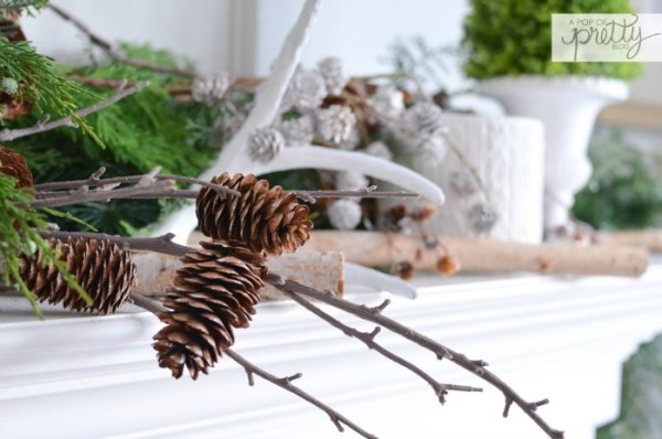Decorating a mantel that lasts all year