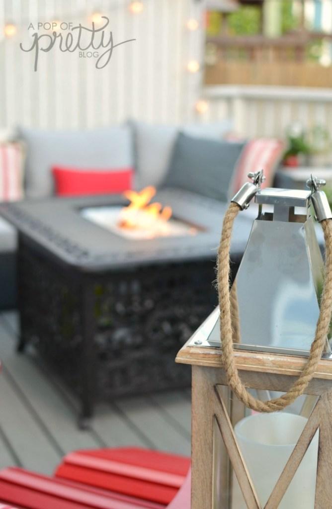 summer decorating outdoor living room