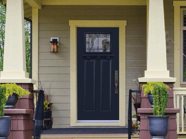 Craftsman home exterior - Masonite door
