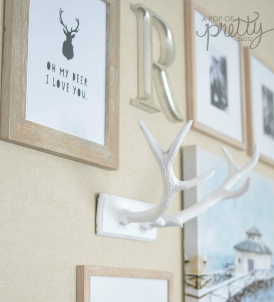 fall decor deer antlers