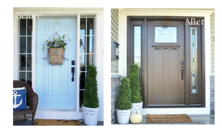 masonite craftsman front door-before-and-after