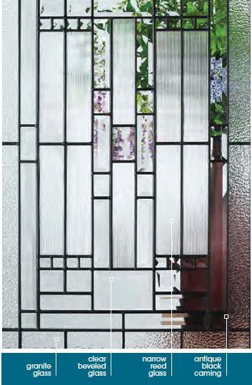 Craftsman front door Naples glass Masonite