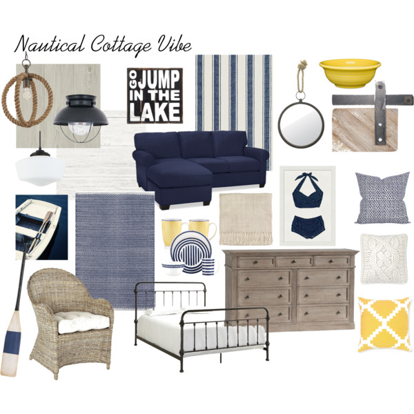 nautical cottage moodboard