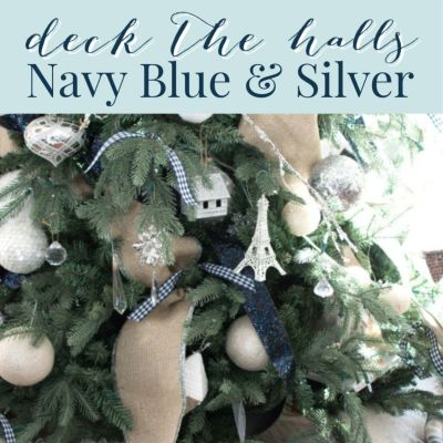 Navy Blue Christmas Decor Ideas (Home Tour)