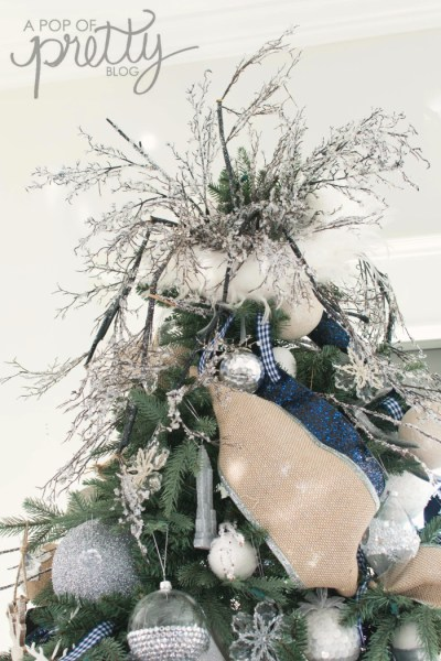 Christmas tree topper - navy Christmas