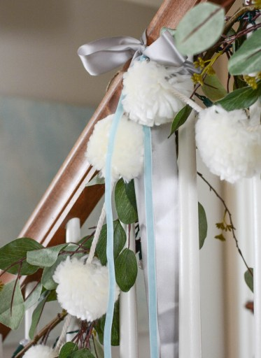 Simple White Christmas Home Tour 2018 Stair Railing- A Pop of Pretty Blog
