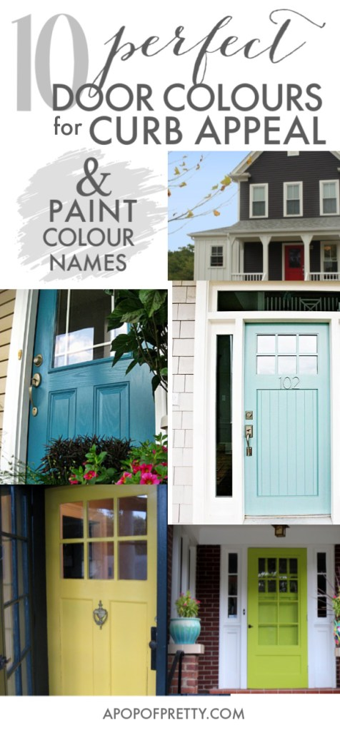 Front door design - 10 door colours for curb appeal