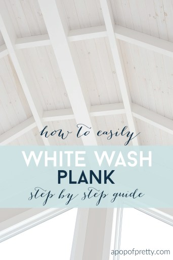 how to white wash shiplap plank