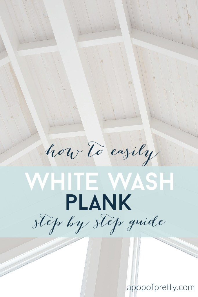 How to easily white wash shiplap - an easy step by step tutorial to get gorgeous results
