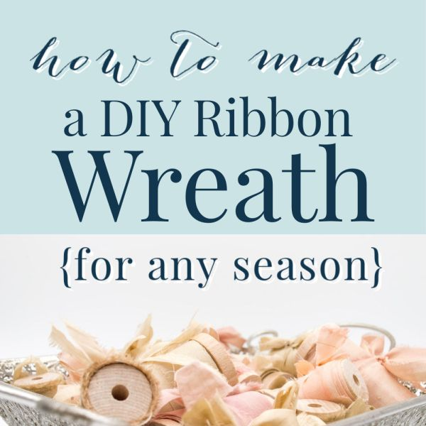 how to make a DIY ribbon wreath