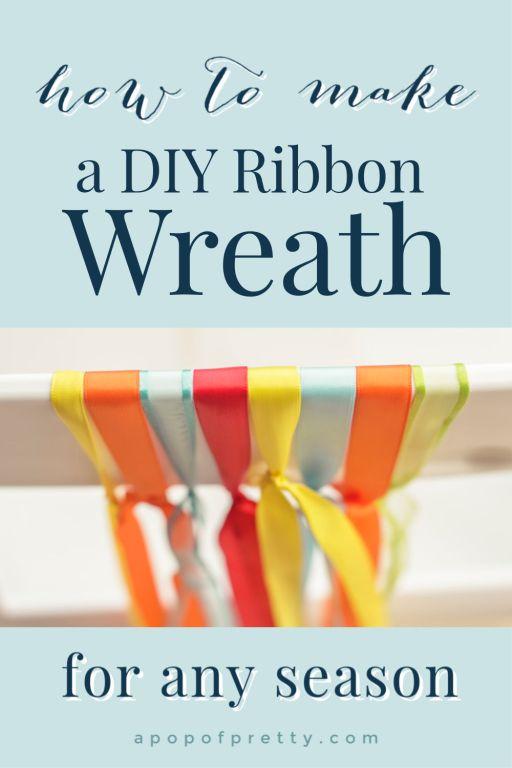 how to make a diy ribbon wreath for any season